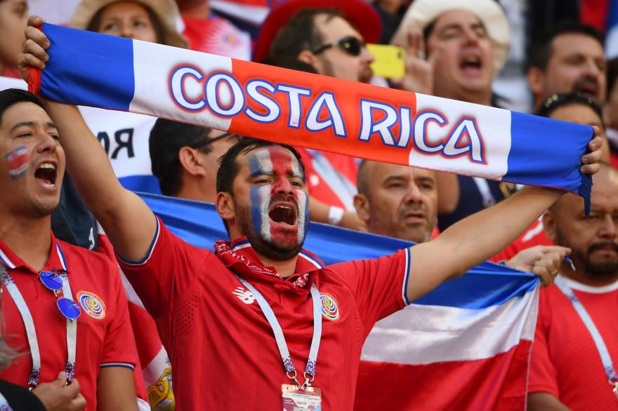 Un supporter costaricien pendant la Coupe du monde de football, en Russie.