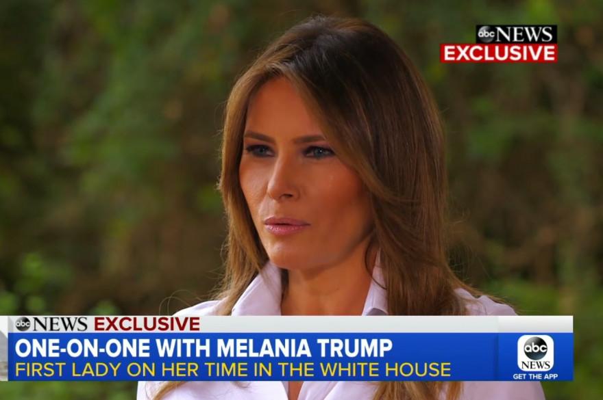 Melania Trump lors d'un entretien accordé à ABC News