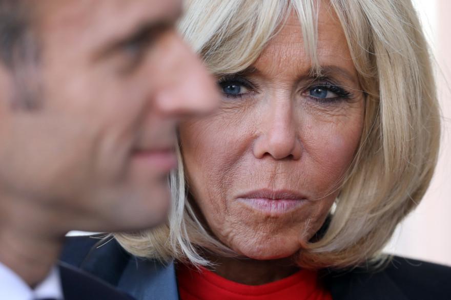 Emmanuel et Brigitte Macron, le 11 octobre 2018
