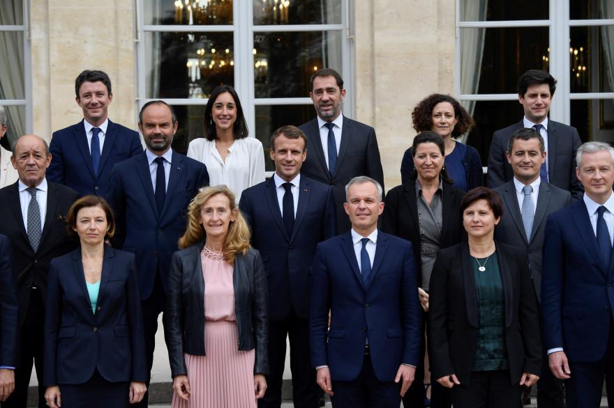 Le nouveau gouvernement d'Édouard Philippe le 17 octobre 2018