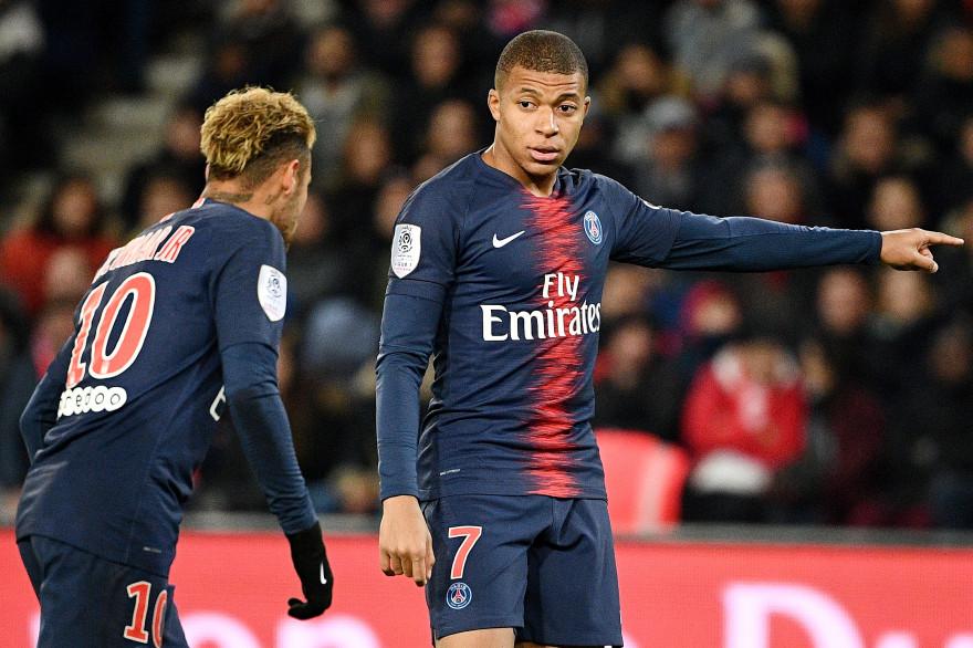 Neymar et Mbappé le 2 novembre 2018 au Parc des Princes