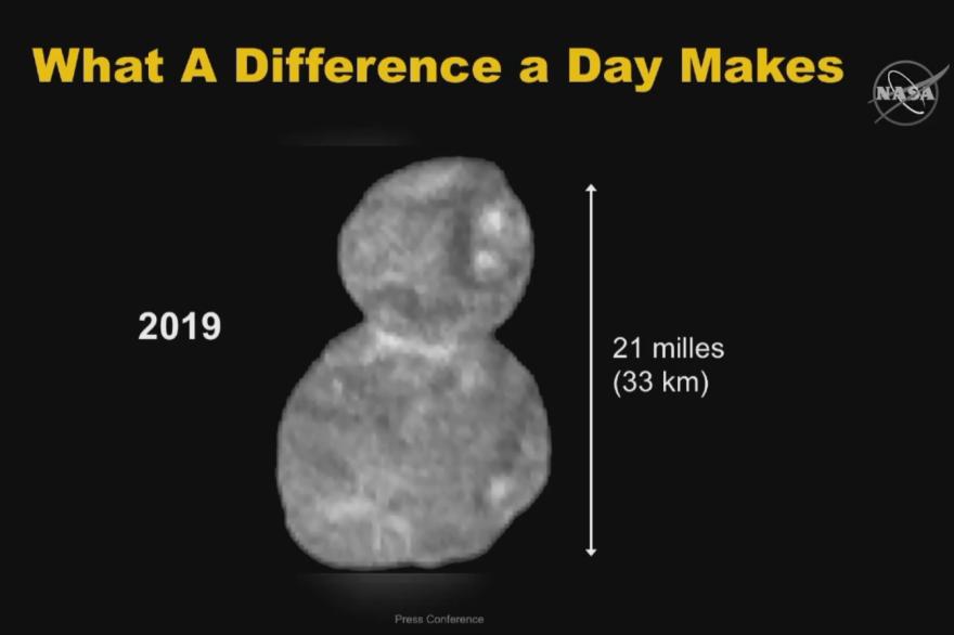 La première image de l'astéroïde Ultima Thule