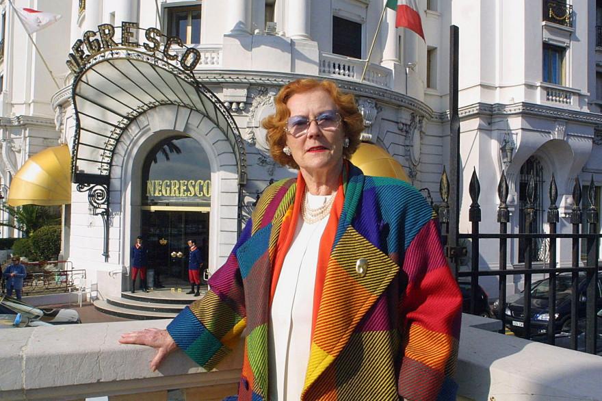 Jeanne Augier, mythique propriétaire du Negreco à Nice