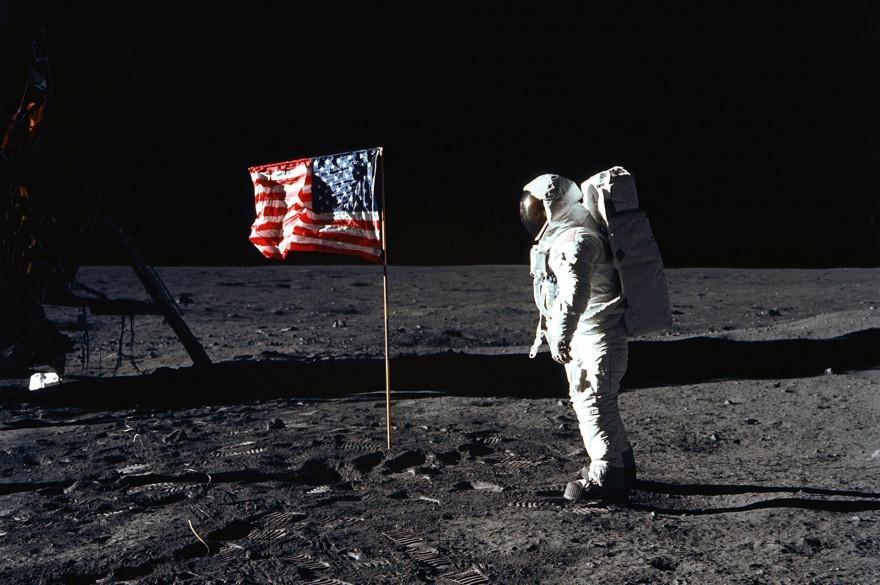 Buzz Aldrin, le 20 juillet 1969 sur la Lune