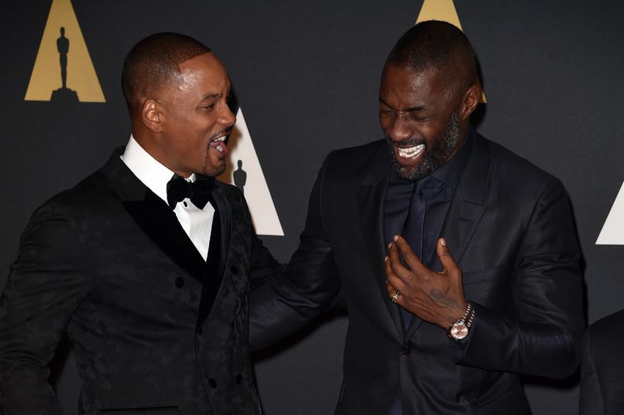 Will Smith (gauche) et Idris Elba le 14 novembre 2015 au Governors Awrads