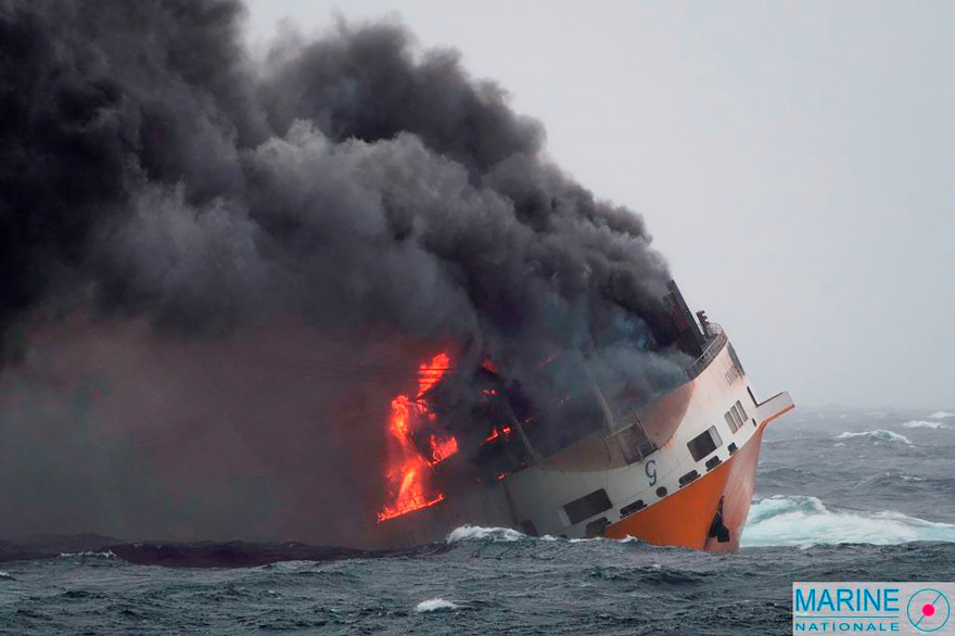 Le navire Grande America a sombré au large des côtes françaises