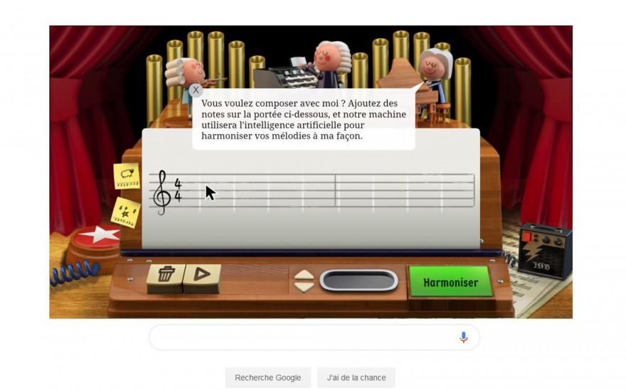 """Intelligence artificielle : quand Google permet de """"composer avec Bach"""""""