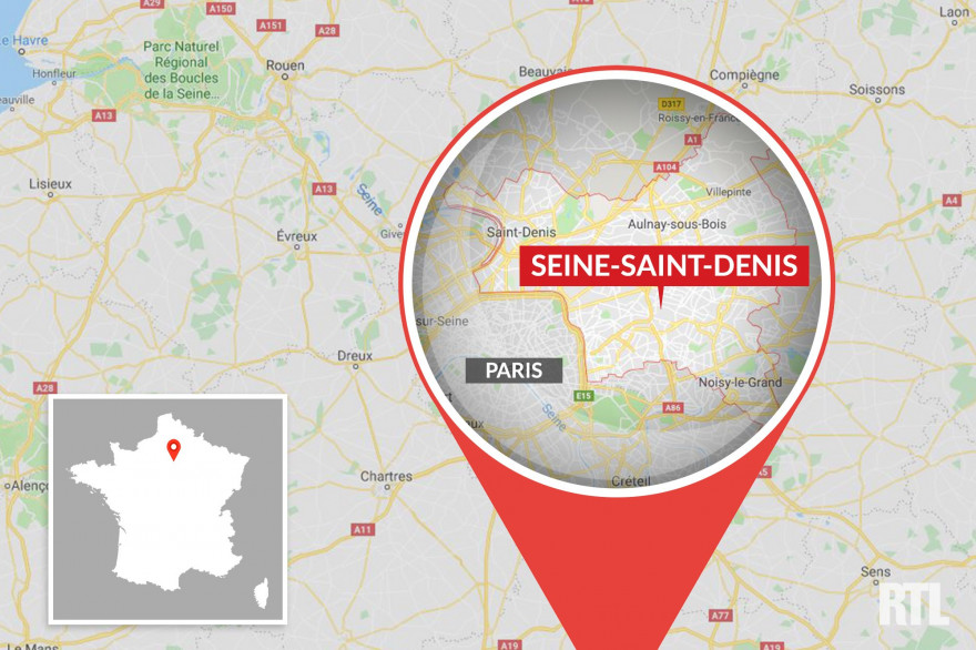 Le département de Seine-Saint-Denis, en Île-de-France