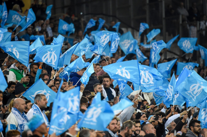 Des supporters de l'OM en octobre 2018