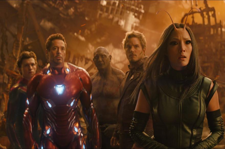 """Une partie des Avengers et des Gardiens de la Galaxy dans """"Infinity War"""""""