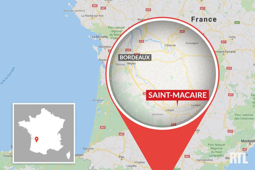 La ville de Saint-Macaire, en Gironde