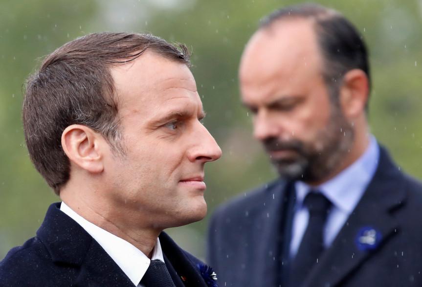 Emmanuel Macron et Édouard Philippe, le 8 mai 2019
