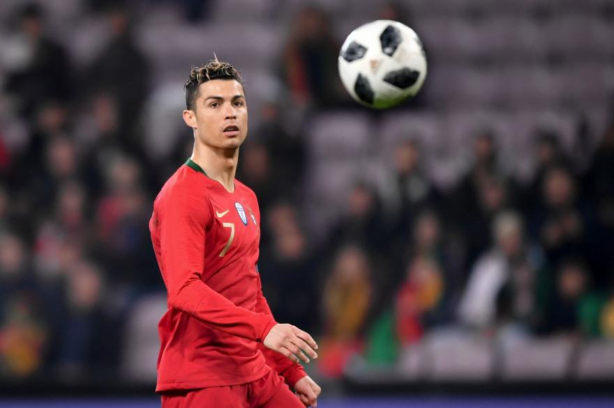 Cristoiano Ronaldo avec le Portugal le 26 mars 2018 à Genève