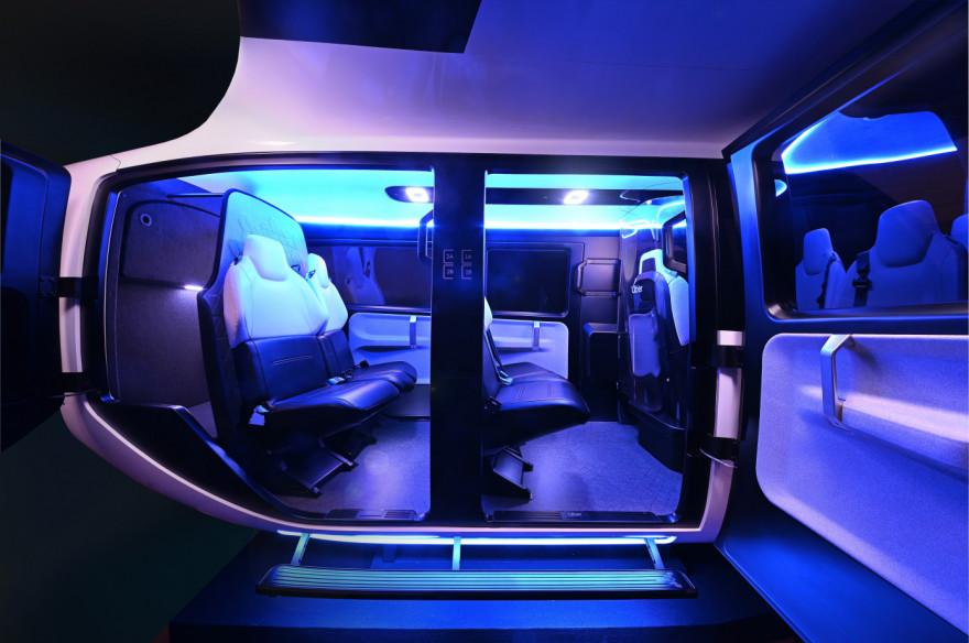 Uber a présenté une première maquette de la cabine de son futur taxi volant