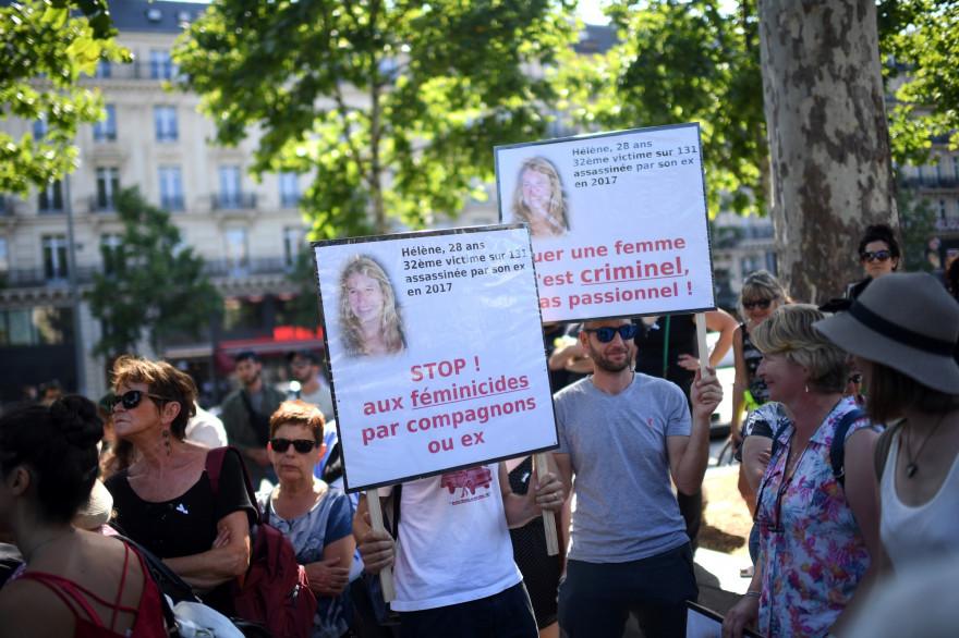 Une manifestation contre les féminicides a eu lieu à Paris, le samedi 6 juillet 2019