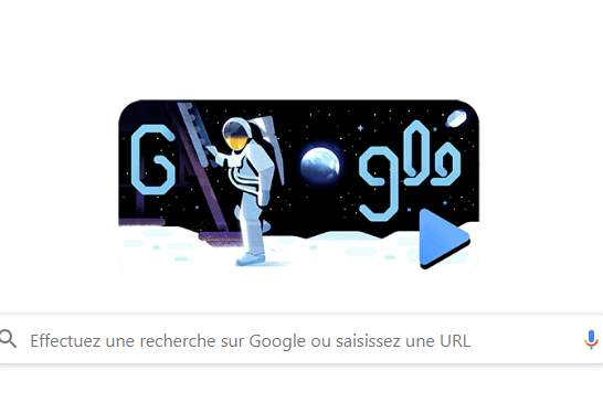 Page d'accueil de Google, le 19 juillet 2019.