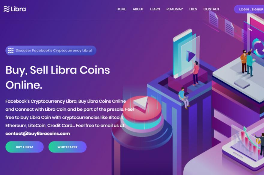 Des sites Internet se font passer pour des plateformes d'achat officielles en reprenant le design de l'organisation Libra