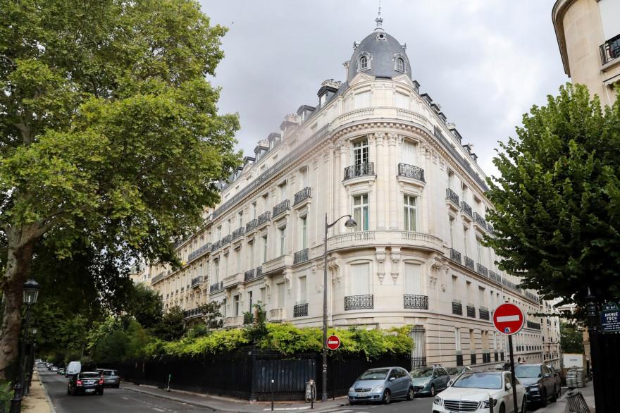 L'immeuble du 16e arrondissement, à Paris, dont Jeffrey Epstein est le propriétaire.