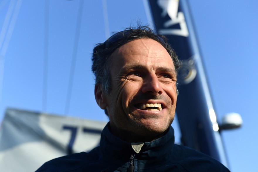 Franck Cammas à Brest le 4 décembre 2019