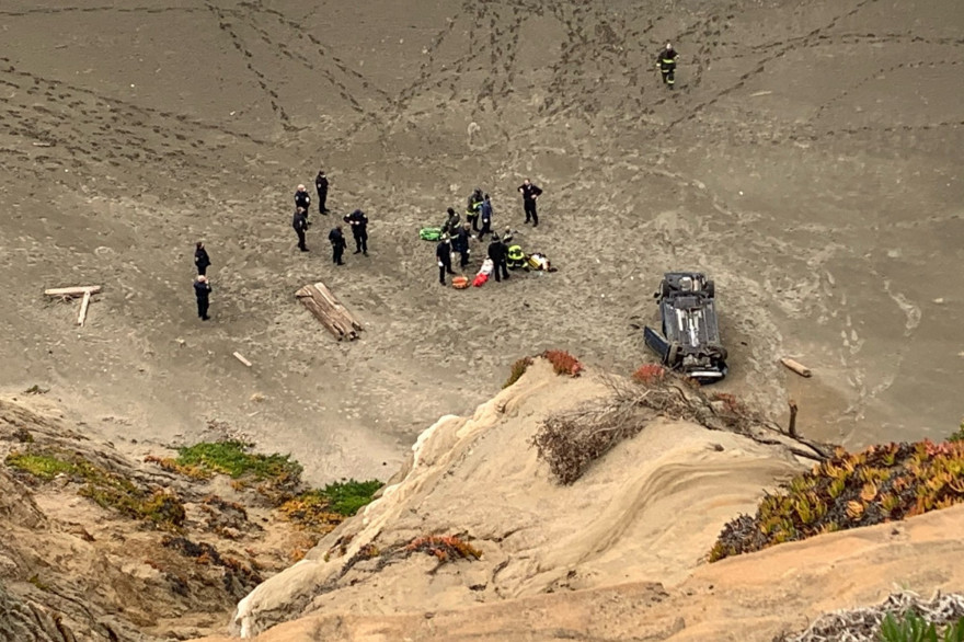 L'accident est intervenu à Fort Funston, au cœur du Parc National du Golden Gate, dans le sud-ouest de la ville californienne.