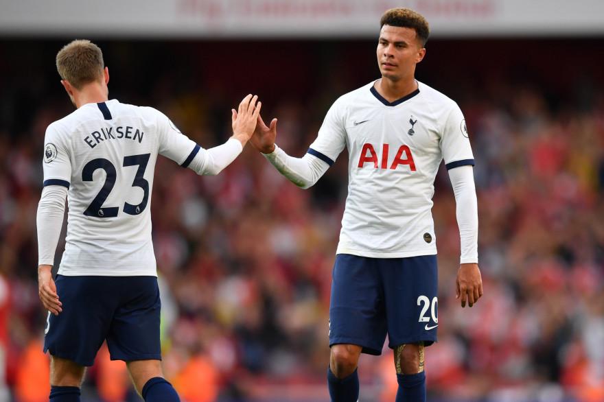 Cristian Eriksen et Delle Alli avec Tottenham le 1er septembre 2019