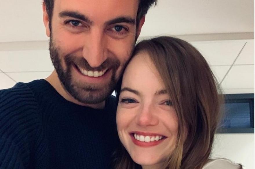 Emma Stone et son époux Dave McCary en décembre 2019