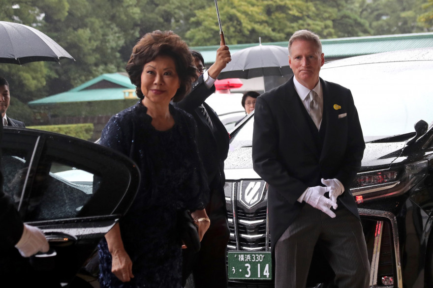 Elaine Chao, la secrétaire d'Etat aux Transports, a démissionné.