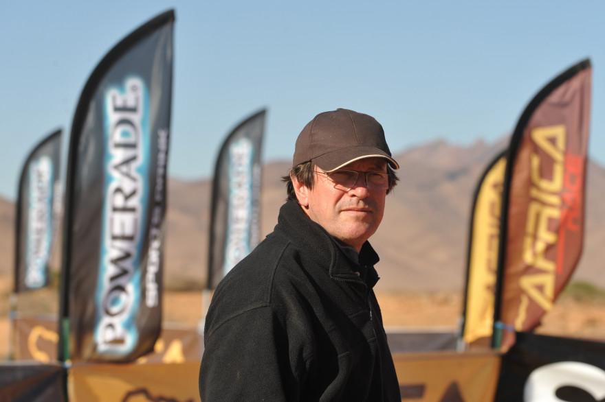Hubert Auriol le 3 janvier 2009 à Agadir, lors de la première édition de l'Africa Race.