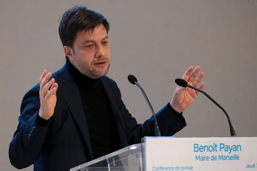 Le maire de Marseille Benoît Payan le 7 janvier 2021