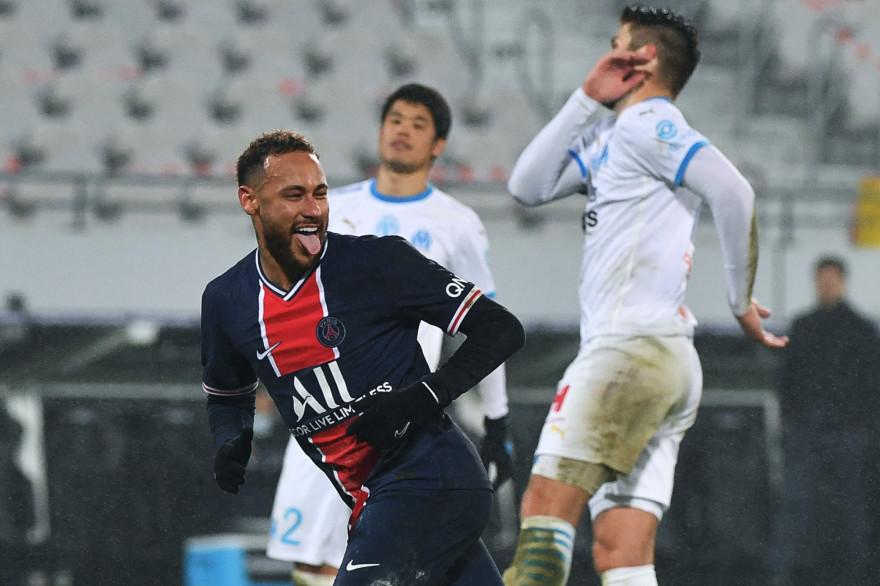 Neymar avec le PSG à Lens face à l'OM le 13 janvier 2020
