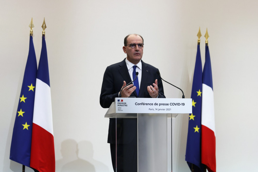 Jean Castex lors d'une conférence de presse le 14 janvier 2021