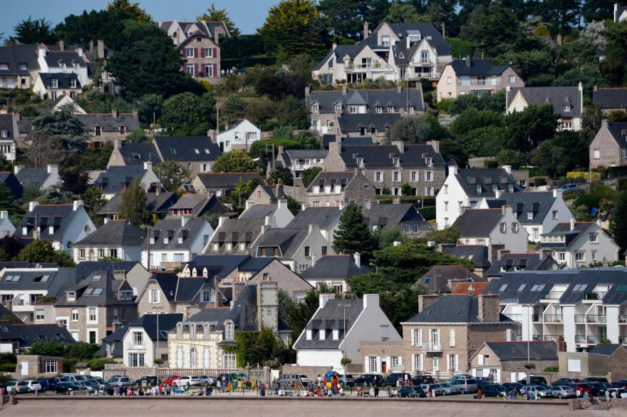 La ville de Saint-Brieuc dans les Côtes-d'Armor