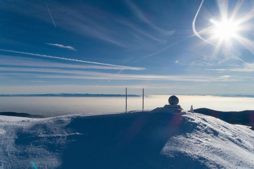 De la neige dans les Vosges (illustration)