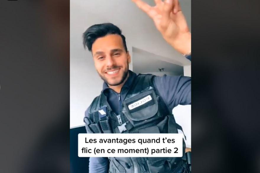 Zoubir affichait sur TikTok ses privilèges de policier en plein confinement