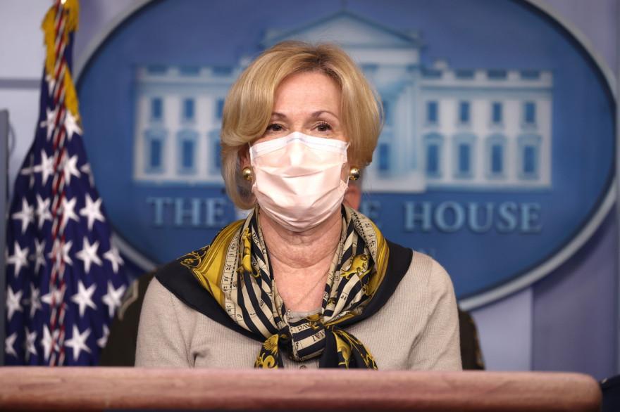 Deborah Birx, médecin responsable de l'équipe de coordination de la lutte contre l'épidémie de Covid-19 pour le gouvernement Trump, le 19 novembre 2020.