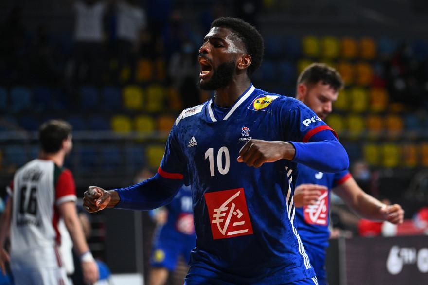 Le handballeur français Dika Mem le 27 janvier 2021.