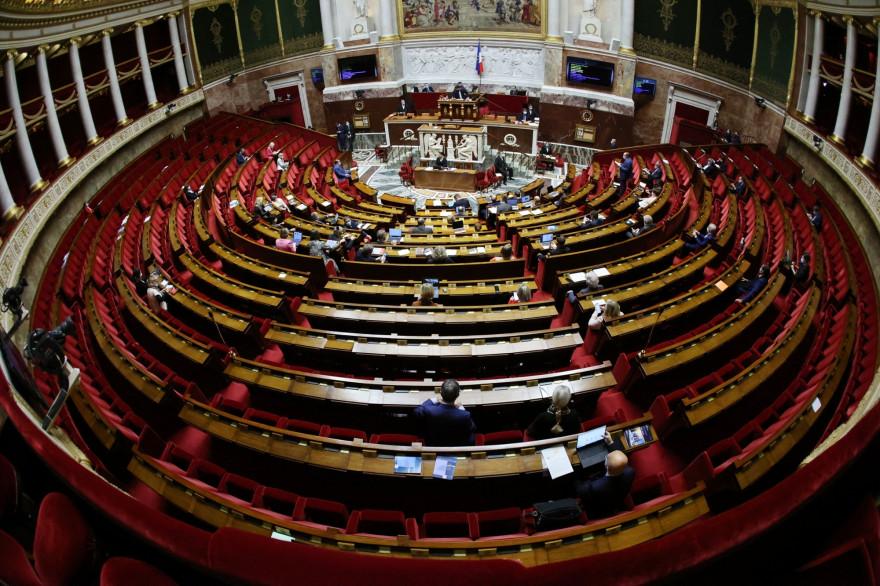 L'Assemblée nationale à Paris le 17 décembre 2020.