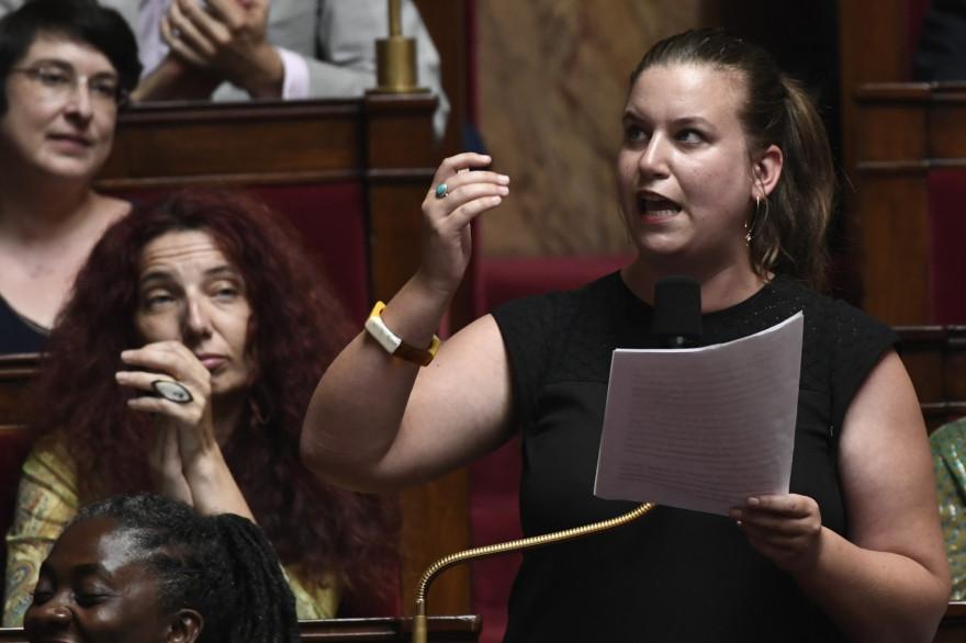 La députée du Val-de-Marne la France Insoumise Mathilde Panot