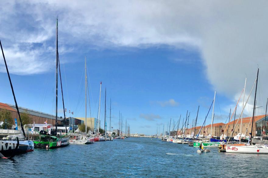 Le bassin Paul Vatine du Havre lors de la Transat Jacques Vabre 2019