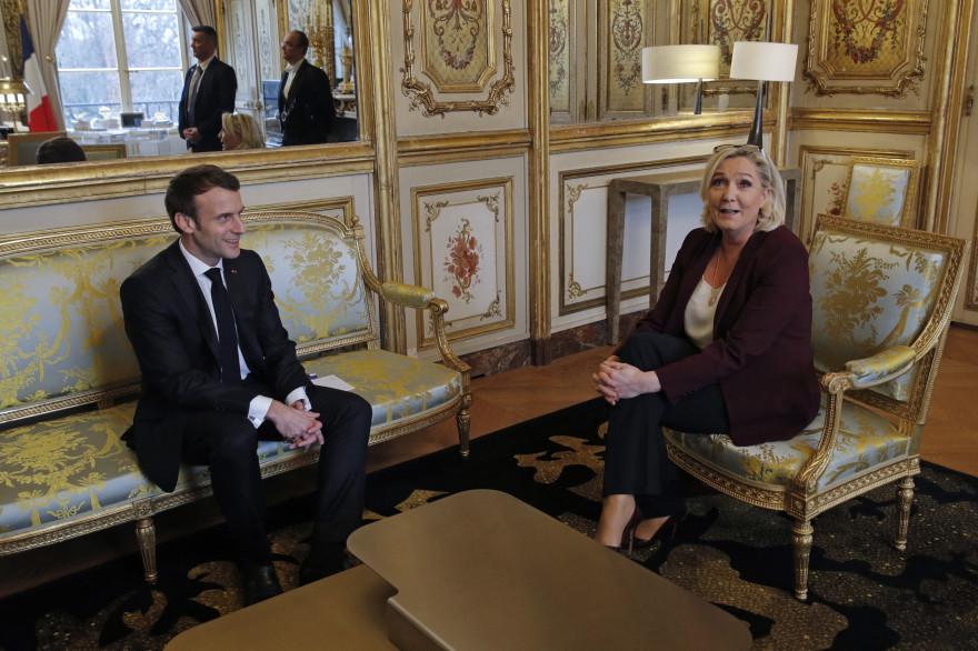 Emmanuel Macron et Marine Le Pen, le 6 février 2019