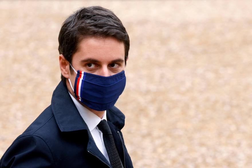 Le porte-parole du gouvernement, Gabriel Attal, à l'Élysée, le 17 février 2021.
