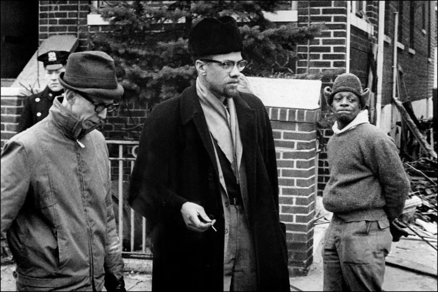 Le militant Malcom X, fondateur de l'Organisation de l'unité afro-américaine.