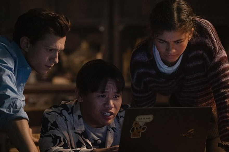 "Tom Holland, Jacob Batalon et Zendaya dans ""Spider-Man 3"""
