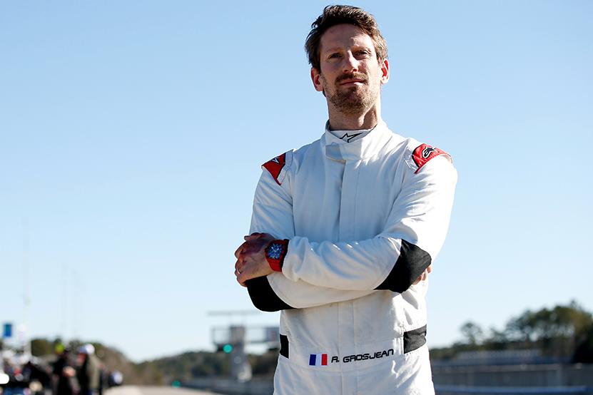 Romain Grosjean sur le circuit de Barber le 23 février 2021