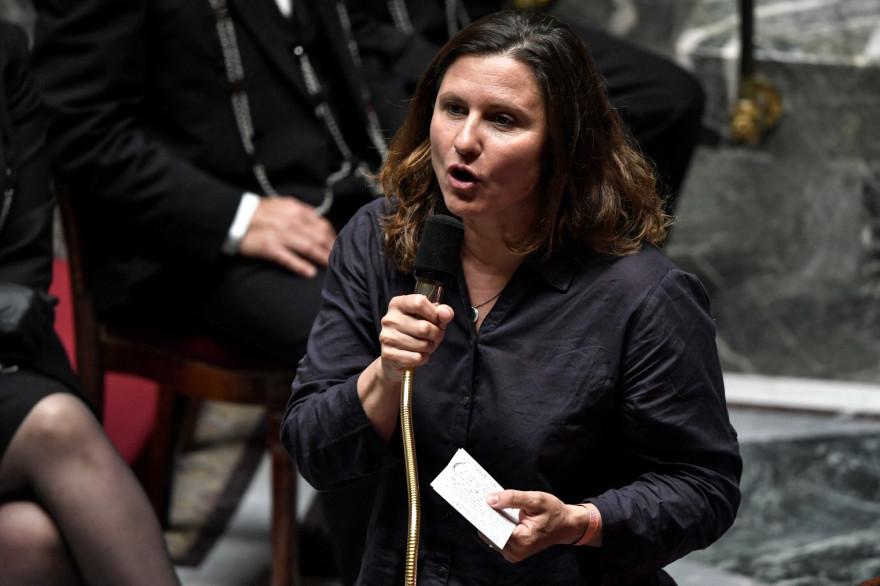 La ministre française des Sports Junior Roxana Maracineanu, à l'Assemblée nationale à Paris.