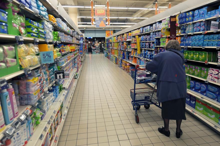 Les rayons d'un supermarché (Illustration).