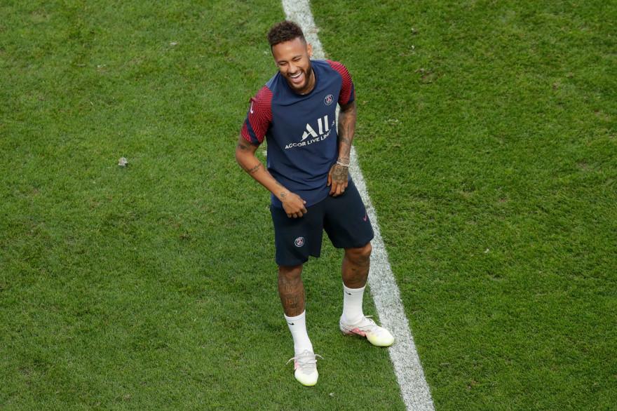 Neymar à l'entraînement à Lisbonne le 22 août 2020
