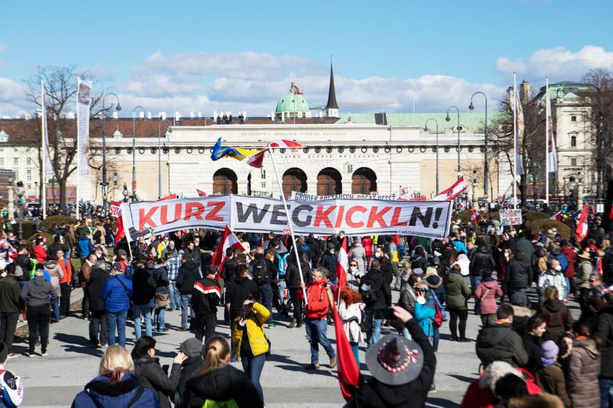 Une manifestation importante a eu lieu à Vienne.