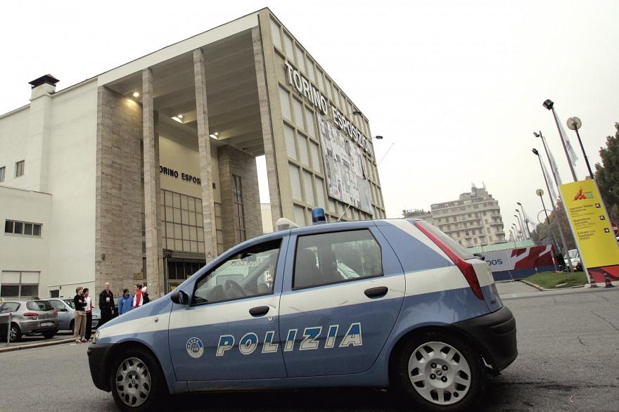 Une voiture de police, en Italie (illustration)