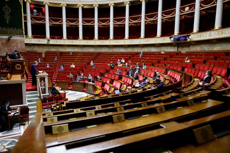 Photo de l'Assemblée nationale prise à Paris le 17 décembre 2020.